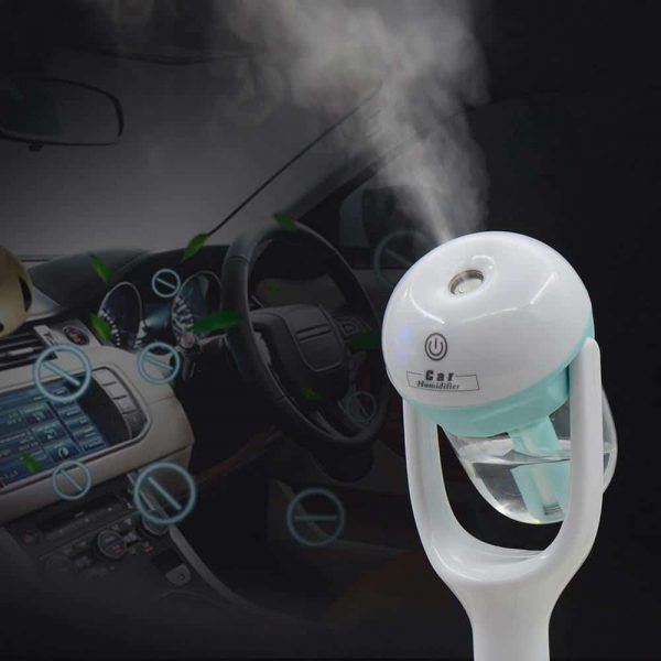 2019 New Mini Car Aroma Humidifier - 12V Car Steam Humidifier Air Purifier Aroma Diffuser Essential oil diffuser Car humidifier many Colors