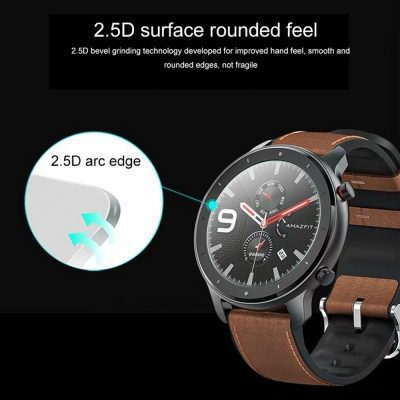 Hard Tempered Glass Screen Protector For For Xiaomi AMAZFIT GTR Smart Watch 47MM Screen Protector Full Edge Cover