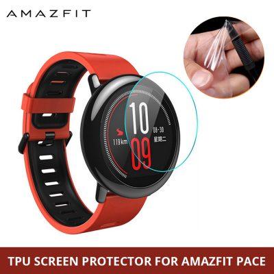 Anti Scratch Soft TPU Ultra Clear Screen Protector for Xiaomi Huami Amazfit Pace Sport Watch Full Protective Film - Not Glass Film