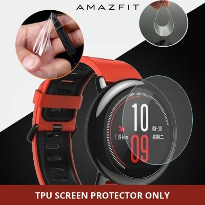 Anti Scratch Soft TPU Ultra Clear Screen Protector for Xiaomi Huami Amazfit Pace Sport Watch Full Protective Film - Not Glass Film