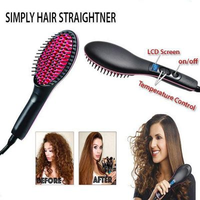 Simply Straight hair straightening irons the ceramic straightening brush quality results in minutes straighten