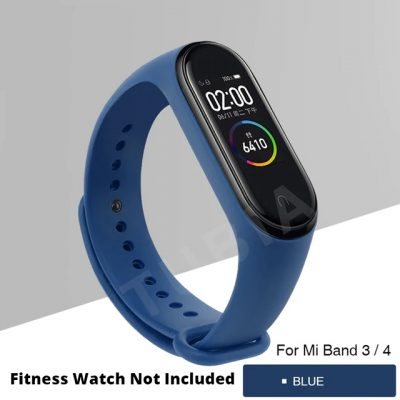 Deep Blue Replacement Strap For Xiaomi MI Band 3, Mi Band 4 , M3 Band & M4 Band (Copy)