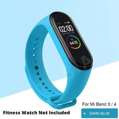 Light Blue Replacement Strap For Xiaomi MI Band 3, Mi Band 4 , M3 Band & M4 Band