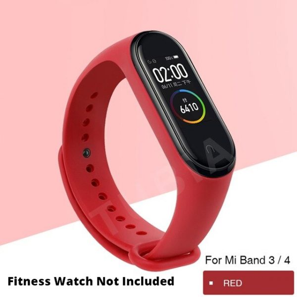 Red Replacement Strap For Xiaomi MI Band 3, Mi Band 4 , M3 Band & M4 Band