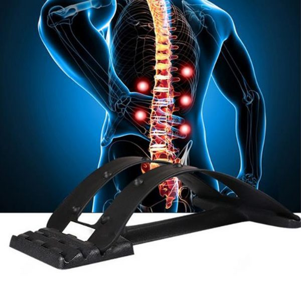 Back Stretcher Massager Neck Waist Pain Relief Magic Support Spine Massage Muscle Stimulator Relaxation Fitness Sport