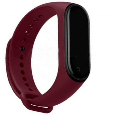 Maroon Replacement Strap For Xiaomi MI Band 3, Mi Band 4 , M3 Band & M4 Bandn