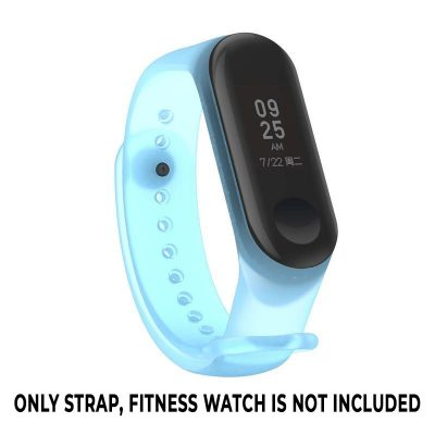 Replacement Strap For Mi Band 3/4, M3, M4 Band - Transparent Blue Strap Set