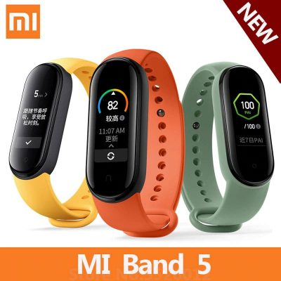 New Xiaomi Mi Band 5 Heart Rate Sleep Monitor Fintess Tracker Message Reminder Alarm Smart Home APP Control