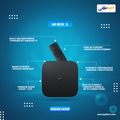 Xiaomi Mi Box S - 4k Ultra Hd Android Set-top Tv Box - Global Version