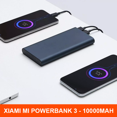 Xiaomi PLM12ZM Mi 18W Portable Power Bank 3 10000mAh Dual USB Output Battery Charger 18W Two-way Quick Charge