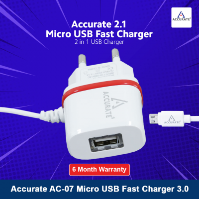 Accurate AC-07 Micro USB Fast Charger 3.0