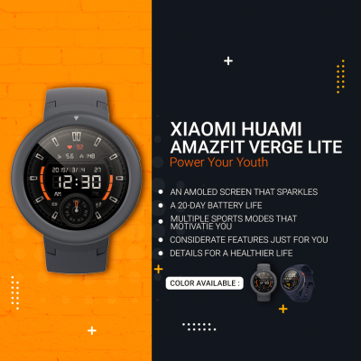Xiaomi Huami AMAZFIT Verge – Lite [ Power Your Youth ]