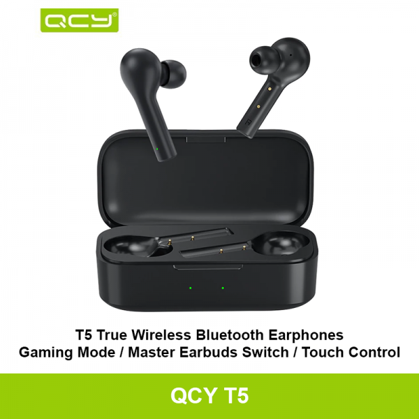 QCY T5 Wireless Bluetooth Earphones V5.0 Touch Control Stereo HD talking with 380mAh battery