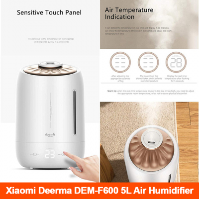 Xiaomi DEERMA DEM - F600 Household Humidifier Air Purifying Mist Maker