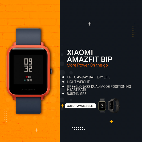 Xiaomi Huami AMAZFIT Bip Heart Rate Monitor Smart Watch - A1608