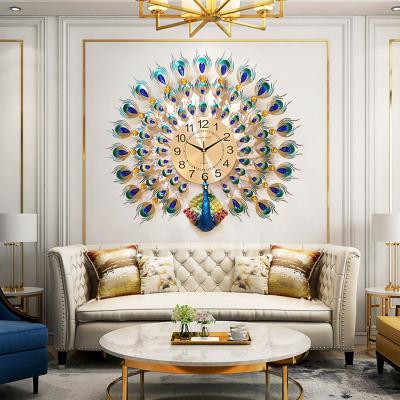 Modern Luxury Peacock Wall Clock Diamond Vintage Design- Pwc1s