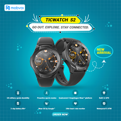 TicWatch S2 Designed to move you