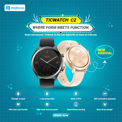 TicWatch C2 Where from meets function.