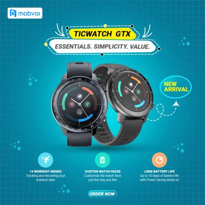 ticwatch-GTX Essentials. Simplicity. Value.