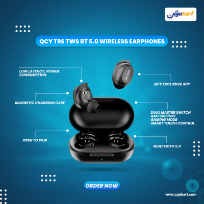 QCY – T9S , Bluetooth 5.0 TWS Earbuds
