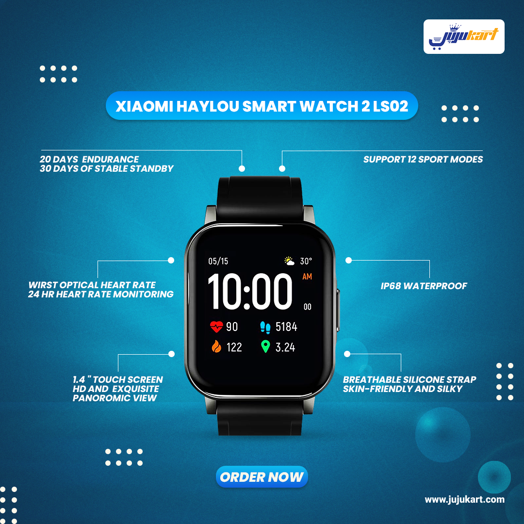 Original Xiaomi Haylou LS02 Smartwatch 2 - International Version