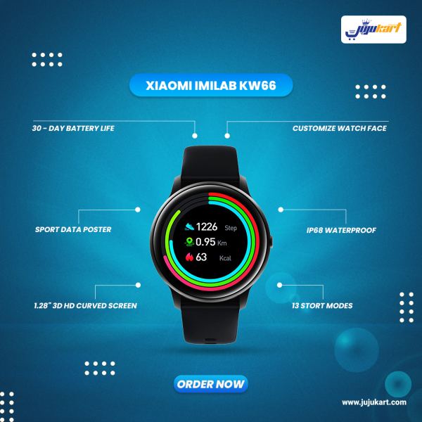 Original Xiaomi IMILAB KW66 Casual Smart Watch with 30 Days Stand By Battery Is Now Available In Nepal