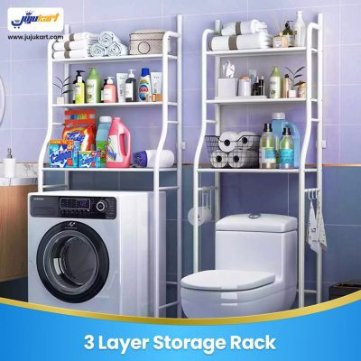 3 Layer Storage Rack for Washing Machine and Toilet