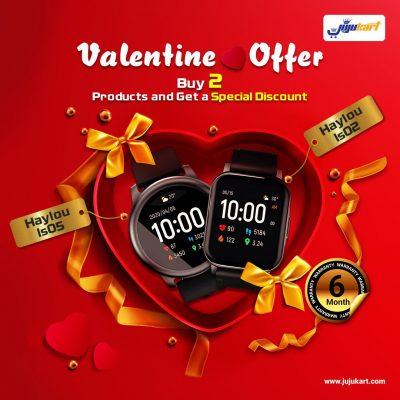 Haylou Smart Watch Valentine Couple Offer