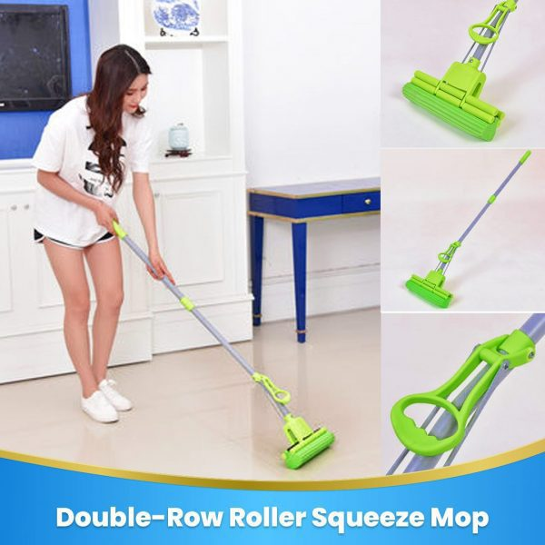 Double Row Rroller Squeeze Mop