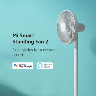 Xiaomi Mi Smart Standing Fan 2, with up to 100 speed levels and standing or desk fan convertible design