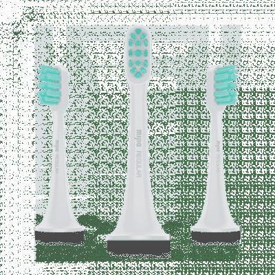 Mi Electric Toothbrush Head (3-pack,standard) (Light Grey)
