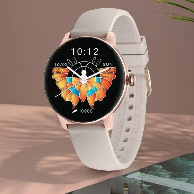 IMILAB W11 2.5D Curved Screen Heart Rate Blood Oxygen Monitoring Female Menstrual Cycle Fitness Tracker Music Control IP68 Waterproof BT5.0 Female Smart Watch - Rose Gold